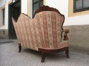 Sofa Vintage Vollholz mit Armlehnen