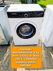 Hanseatic Waschmaschine 6kg 1400U