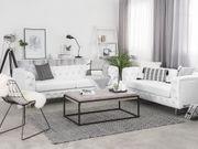 Sofa Set Kunstleder weiß 5-Sitzer