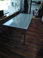Ikea Schreibtisch Milchglas Metall