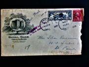 USA Briefumschlag Luftpost Briefmarken Washington