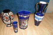 4x Versch Vase mit Messing