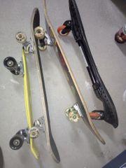 1 Waveboard 3 Skateboards gut