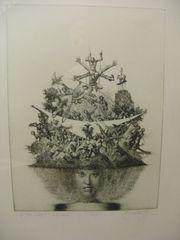 Albin Brunovsky 1981 Etching on