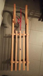 Holz Schlitten - TOP - sehr guter