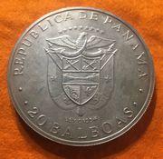 Große Silbermünze 20 Balboas 1974