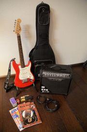 Gebraucht, E-Gitarre Fender Squier Mini - tolles Einsteigerset! gebraucht kaufen  Bretten