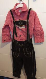 Kinder Lederhose mit Trachtenhemd Größe