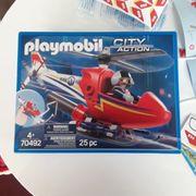 Hubschrauber Feuerwehr playmobil