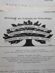 Zeitschrift Namensträger Burtscher Purtscher usw