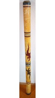 Didgeridoo aus Bambus mit Bienenwachsmundstück