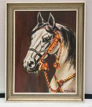 Ölbild Pferdekopf