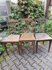 6 Jugendstil Stühle mit Sternmuster