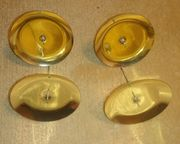 4 x Kerzenhalter Kerzenständer - goldfarben-glänzend