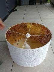 große ikea Lampe Lampenschirm weiß