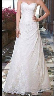 Brautkleid mit Bolero Schuhe