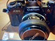 Canon AE-1 Tamron Blitzgerät