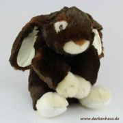 Deko-Kuscheltier Hase dunkelbraun Höhe 30