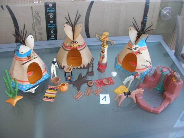 Playmobil Indianerlager Zelte Tipis Zubehör