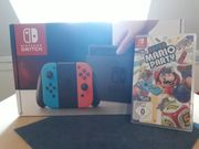 Nintendo Switch rot blau mit