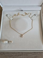 Diamant Brillant Halskette und Ohringe