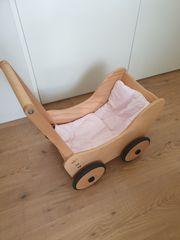 Lauflern- Puppenwagen aus Holz