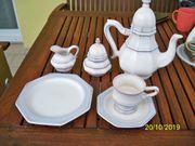Kaffee - Set 6-teilig Zuckerdose Milchkanne