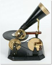 Emil Berliner Grammophon 1910 Kurbelantrieb