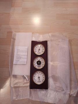 Elektronik - Originalverpackte Wetterstation aus Echtholz für