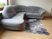 Hochwertige Federkern-Couch grau