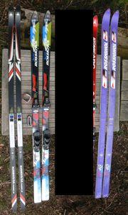 3 Paar ältere Ski Kneissl