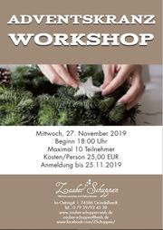 Adventskranz Binden Workshop