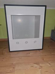 Weißes Kunststoff Terrarium Würfel 50x50x60