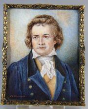 Beethoven - Miniatur auf Elfenbein - England