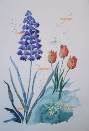 Preissenkung Blue Mood Aquarell Bild
