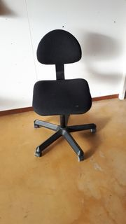 Bürostuhl Universal-Stuhl Stoff schwarz verstellbar