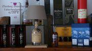 Dekorative Flaschenlampe Whiskylampe Tischlampe Lampe