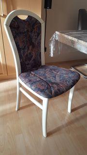 Sechs Esszimmerstühle massivholz Weiß Holzstühle