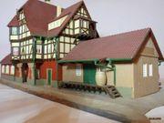Vollmer H0 - Bahnhof mit Fachwerk