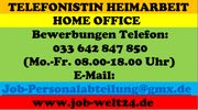 Telefonistin im Homeoffice Job Heimarbeit