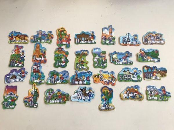 Verkaufe komplettes A-Z Fruchtzwerge Magneten