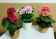 Kunstblumen im 3er-Pack