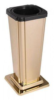 Grabvase goldfarben Vase mit Einsatz