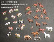 35 Modelltiere für die Modelleisenbahn