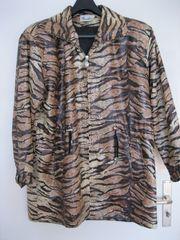Damen-Regenjacke Tigermuster Gr 48