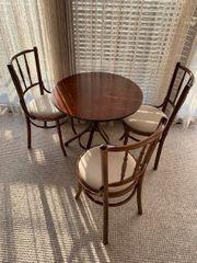 Sitzgruppe Thonet Design Tisch mit