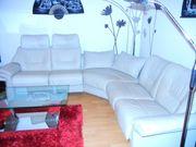 Wohnlandschaft Couch Relax beige Echtleder