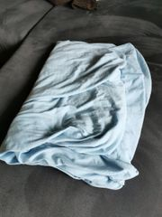 Hellblaues Spannbettlaken 140x200 cm Nur
