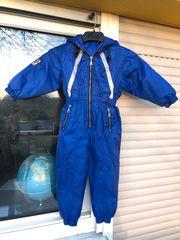 Schneeanzug für Kindergröße 110 blau