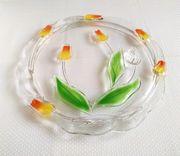 Original Walther-Glas Kristallglas Tortenplatte Tortenteller